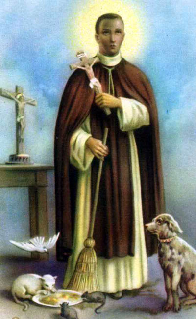Martin de Porres, who was half-Black, was a faithful servant of the Dominican order in Peru - so faithful that they dropped their requirement that only whites could be members, and made him one of them.