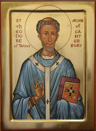 Aidan Hart: St. Theodore. He was an Eastern monk and a regularizer. He established an excellent school at Canterbury and drew diocesan and parochial boundaries so the Church could be effectively ministered to; that is, administered.