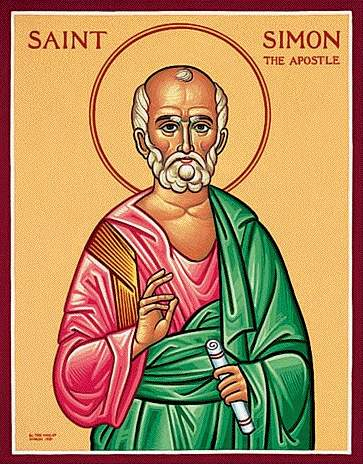 """Simon the Zealot is mentioned in the Gospels, but that's about all we really know; the rest is tradition, associating him and Jude as apostles to Persia. Accounts disagree about whether they were martyred. Nevertheless, this is a """"Feast of Our Lord,"""" a major holy day."""