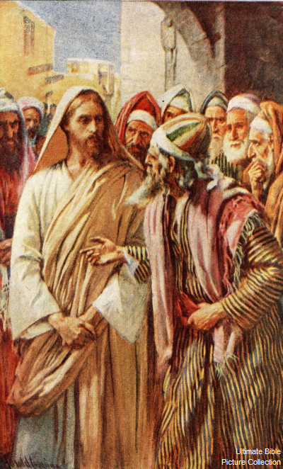 Jesus Confronts the Sadducees. (Bible Pictures)
