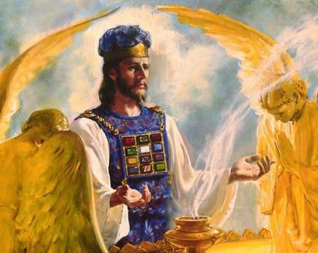 The Lion of Judah with a golden bowl of incense. (source unknown)