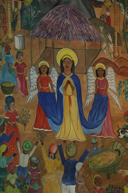 Nativity mural in the former cathedral in Port-au-Prince, Haiti, destroyed in the 2010 earthquake.
