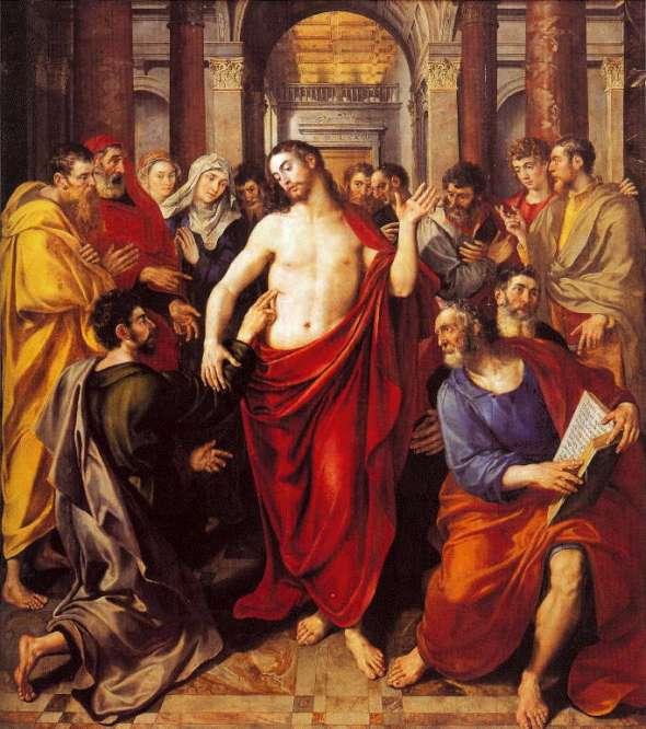 Martin De Vos, 1572: Jesus Shows Thomas His Wounds