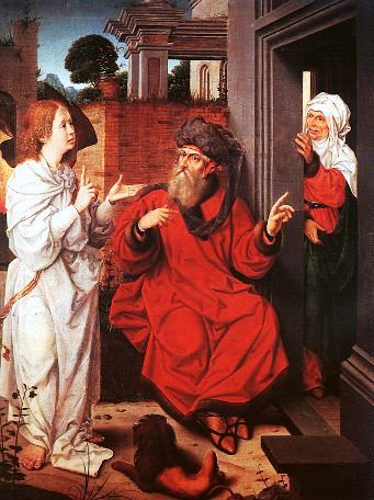 Jan Provost, 1520: Abraham, Sarah and the Angel