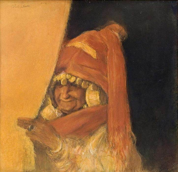 Abel Pann: Sarah Laughed. She didn't believe the prophecy about having a son any more than Abraham did, until things began to happen. (Note too that she thinks of sex as a pleasure.)