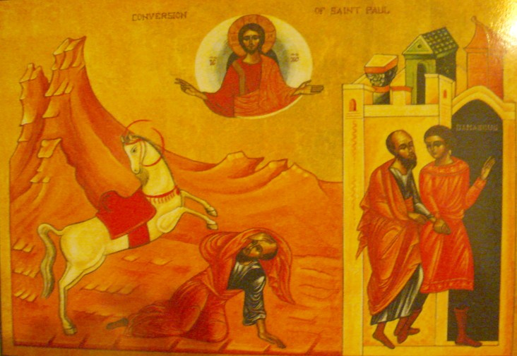 St. Paul on the Road to Damascus (iconographer unknown)