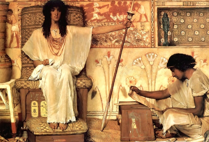 Sir Lawrence Alma-Tadema (d. 1912): Joseph, Overseer of Pharaoh's Granaries