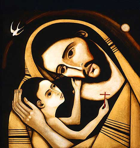 My favorite image of Jesus and his Dad. (artist unknown)