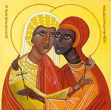 St. Perpetua and her companions were known for extraordinary faith and courage in facing death for refusing to renounce Christ and sacrifice to the divinity of the emperor. (source unknown)