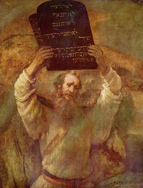 Rembrandt: Moses and the Ten Commandments