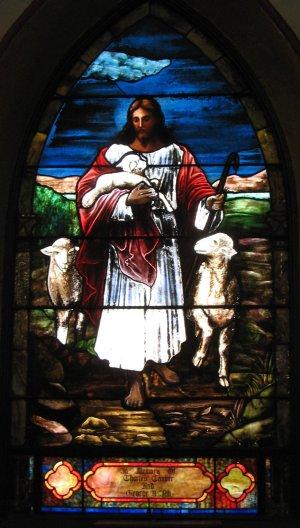 Good Shepherd window, St. John's, Union City, New Jersey.