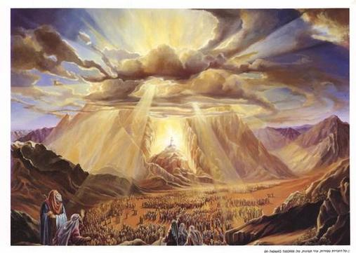 Cloud of the Presence over Mt. Sinai (artist unknown)