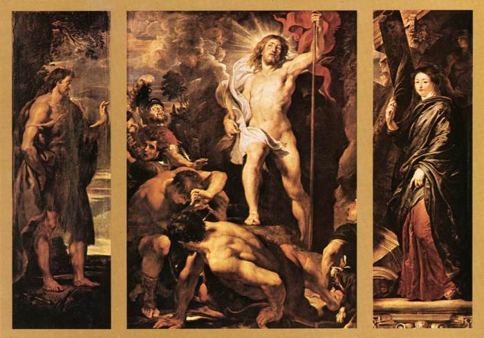Rubens, 1611-12: Resurrection Triptych
