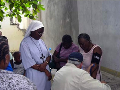 The Sisters of St. Margaret, headquartered in Massachusetts, have had a mission in Haiti since 1927. Although their convent in Port-au-Prince was heavily damaged by the 2010 earthquake, they continue their mission of caring for children and the elderly.