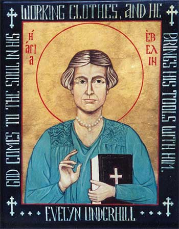 Evelyn Underhill was an English writer who believed that everyday mysticism can be part of the experience of anyone who cares to nurture it, not just a saintly few. She taught that modern psychological discoveries enhance our awareness of God, rather than destroying it - a revolutionary idea at the time. In a sense, all God-seekers today are disciples of Evelyn Underhill. (Suzanne Schleck)
