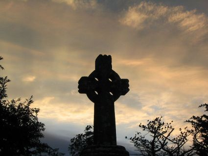 Celtic cross, Knock, Ireland.