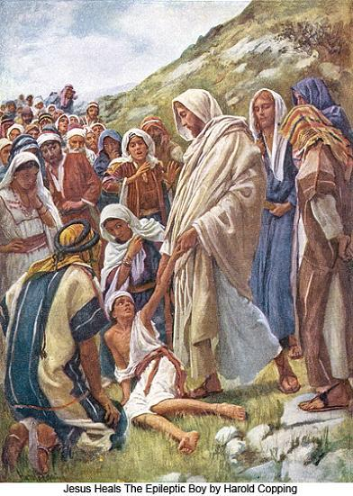 Jesus Heals the Epileptic Boy (Harold Copping)