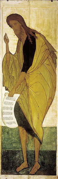 Andrei Rublev: John the Baptist. He still has a small cult that follows him as a messianic figure.