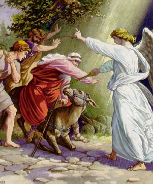 The angel balaam and the talking donkey unknown