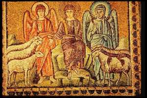 Christ Separates the Sheep and the Goats (Church of Apollinaire Nuovo, Ravenna, Italy)