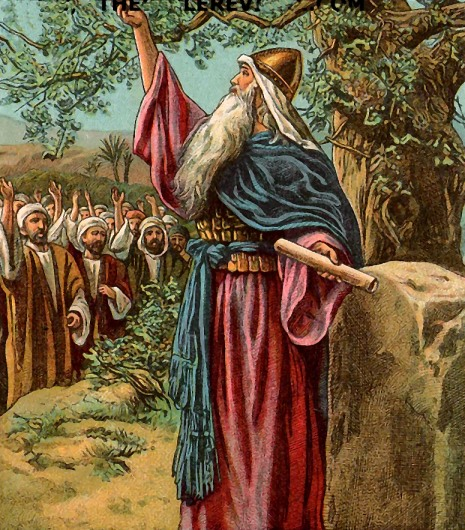 The final oration and death of Joshua: there wouldn't be a Promised Land without him.