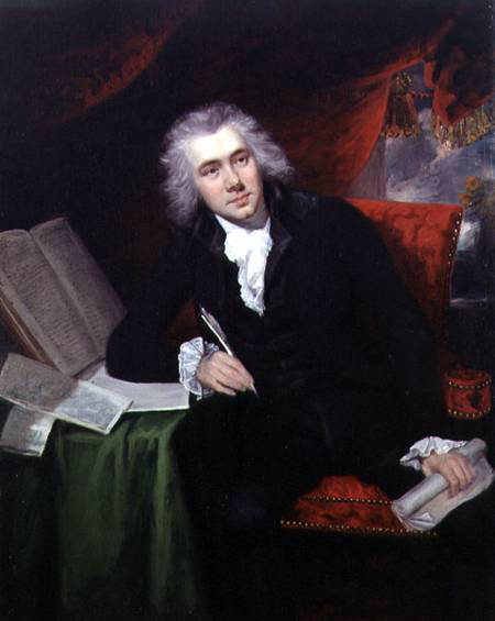 John Rising, 1790: William Wilberforce, Age 29. Wilberforce is known worldwide for his dogged persistence in Parliament to ban the slave trade; wealthy, powerful forces were arrayed against him. There was a lot of money to be made in buying and selling human beings; even political moderates with some sympathy toward abolition thought twice about prohibiting the trade, but Wilberforce didn't take no for an answer.