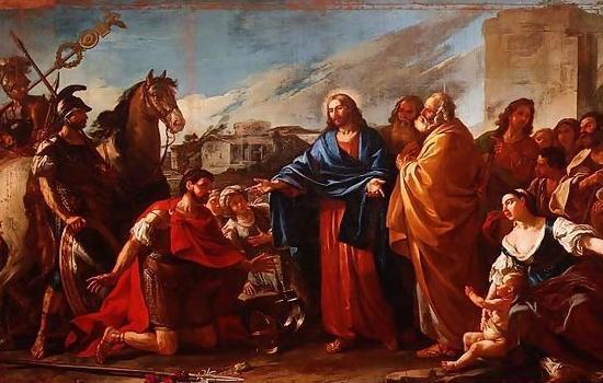 Joseph-Marie Vien, 1752: Jesus Heals the Official's Son (Musée des Beaux-Arts, Marseille, France)
