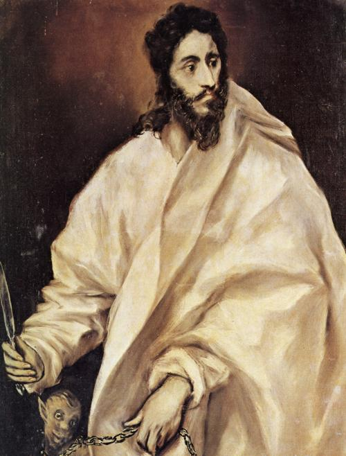 El Greco: St. Bartholomew. He's often equated with Nathanael.