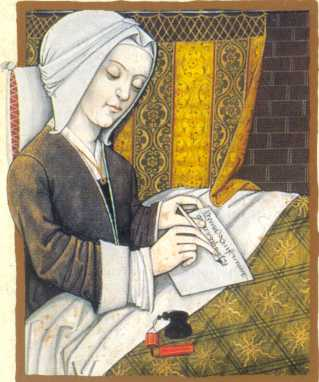 Margery Kempe had intense visions of Jesus Christ, followed by periods of emotional disturbance - the same thing that happens to some people today. Once she regained her emotional balance, she often set out on a pilgrimage. Her self-titled book dates from about the same time as Julian of Norwich, her friend and mentor. Most men thought women were incapable of producing books.