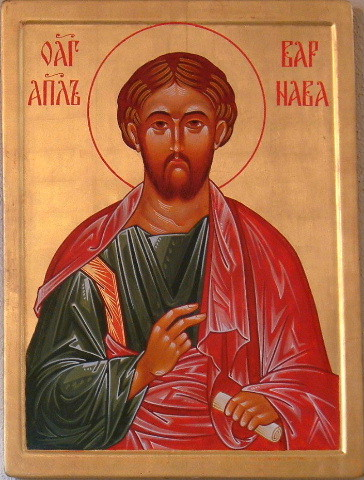 It's easy to overlook Barnabas, but he was an important evangelist who often accompanied St. Paul and also founded the Church on his native Cyprus. (iconographer unknown)