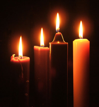 German Lutherans popularized the Advent wreath, with four candles for four weeks.