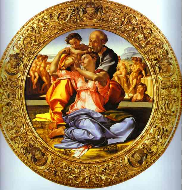 Michelangelo: Holy Family with the Infant St. John