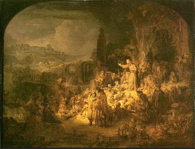 Rembrandt: Preaching of John the Baptist