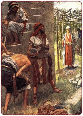 Parable of the vineyard and tenants; artist unknown.