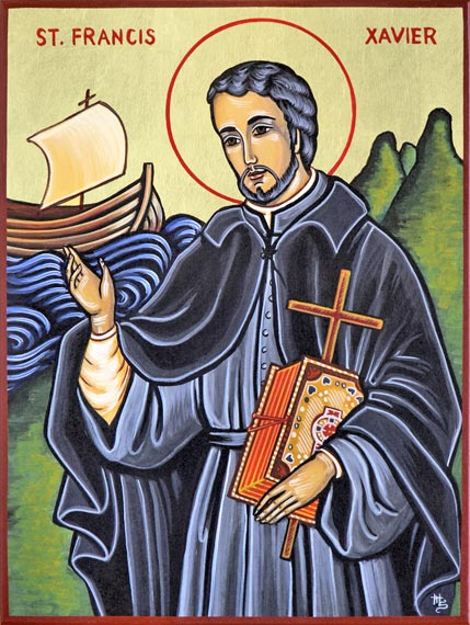 Francis Xavier, a co-founder of the Jesuits with Ignatius Loyola, is said to have converted 30,000 people in India, Sri Lanka, Indonesia and Japan, more than anyone since St. Paul. (artist unknown)