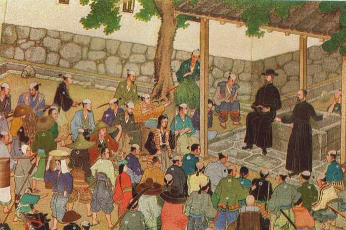 Utsumi: St. Francis Xavier in Japan. He was a co-founder of the Jesuits and a missionary in India, Sri Lanka, Indonesia, China and Japan.