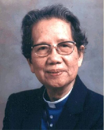 "Mother Florence went through a lot of suffering in her life, including being confined in a ""re-education"" camp in China and widespread controversy about her vocation, but Canadians rejoiced to receive her as a priest in 1981. She is a beloved symbol today in the West. (source unknown)"