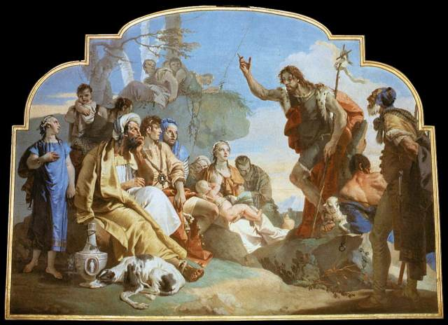 Giovanni Battista Tiepolo: John the Baptist Preaching