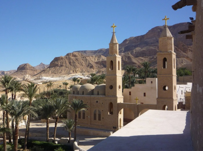 St. Antony's Monastery, Egypt. He inherited wealth when he was young, but following his Savior's command, sold all he had and gave it to the poor.