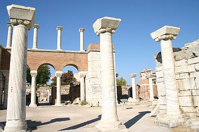 Ruins of St. John's Basilica in Ephesus, Turkey. Tradition says the Apostle was buried on this spot.