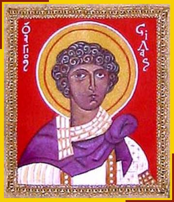 Silas (Silvanus) was a prophet in the Jerusalem Church who accompanied Paul on missions to Asia Minor and Macedonia. (iconographer unknown)