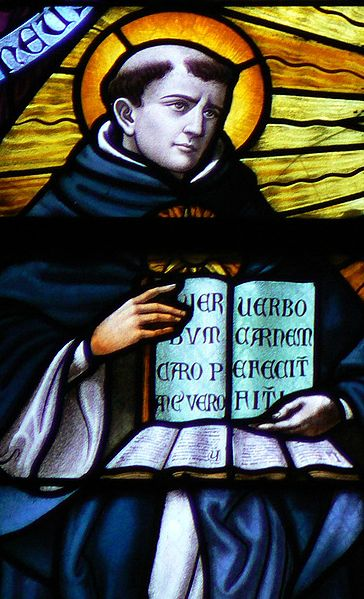 """Thomas Aquinas saw that the rediscovery of works by Aristotle, who put reason and sense perception (science) above faith, could challenge traditional Catholic doctrine. So he set about reconciling them, calling grace """"the perfection of nature."""" (source unknown)"""