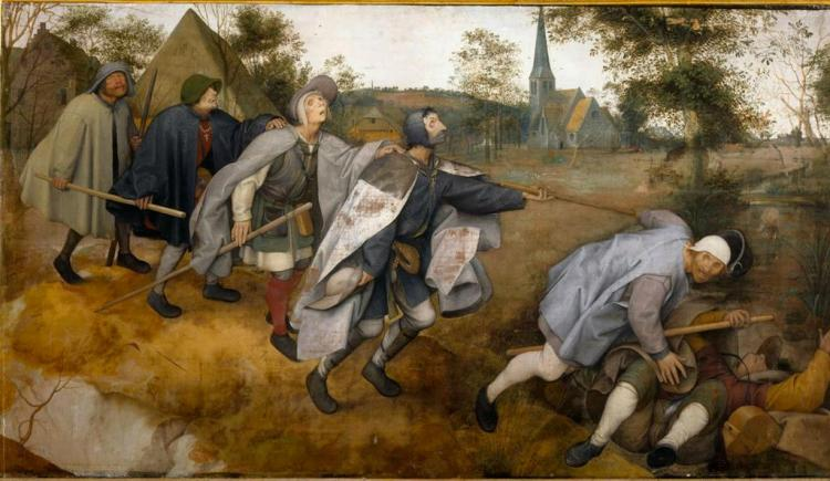 The Blind Leading the Blind, by Pieter Breugel the Elder, 1568.