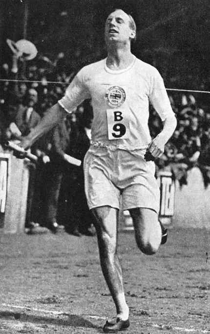 "Gold medalist Eric Liddell at the Paris Olympics, 1924. He was born in China, the son of missionaries, and educated in Britain, where his athletic talent emerged. His refusal to run in the 100-meter dash because it was held on a Sunday was immortalized in the film ""Chariots of Fire."" But his return to China and service to his fellow prisoners of war is why he's on our calendar."