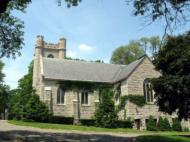 St. Cornelius Chapel, Governors Island, New York. The island was once a military post. (Jim Henderson)