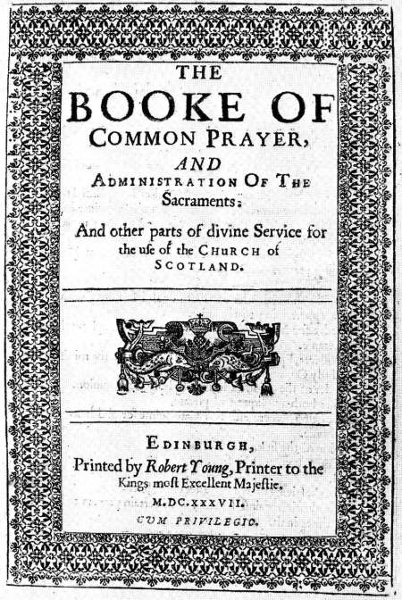 The 1637 Book of Common Prayer of the Episcopal Church of Scotland. Archbishop Cranmer's English Book of 90 years earlier is famous for its eloquence, but what made it revolutionary was that it eliminated Latin, enabling the laity to pray in their own language. The various national Prayer Books, in all their editions, together form the shared spiritual heritage of Anglicans the world over.