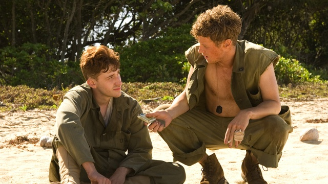 """English-born poet and priest Geoffrey Kennedy first became known as a chaplain in World War I; soldiers called him """"Woodbine Willie"""" because he didn't just preach at them, he befriended them and offered a smoke. (Image from the HBO series """"The Pacific"""")"""