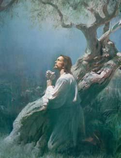 Harry Anderson: Christ in the Garden of Gethsemane.