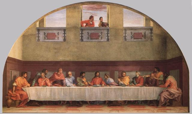 Andrea del Sarto, c. 1520: The Last Supper; click to enlarge.