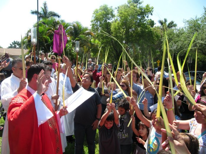Palm procession at the Church of the Resurrection, Miami, Florida, 2012.